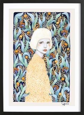 Emilia - Poster in Wooden Frame