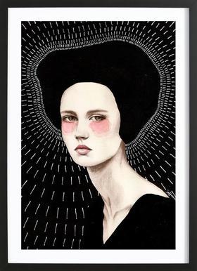 Freda - Poster in Wooden Frame