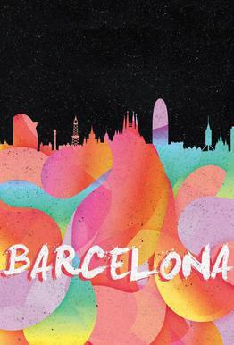Barcelona -Acrylglasbild