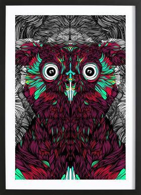 Owl you need is love -Bild mit Holzrahmen