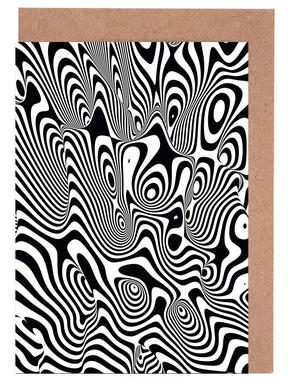 Trippy Background Greeting Card Set