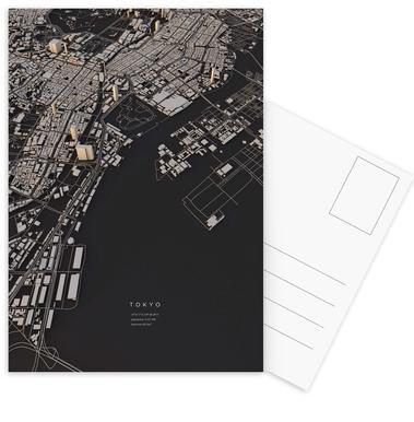 Tokyo City Map Postcard Set