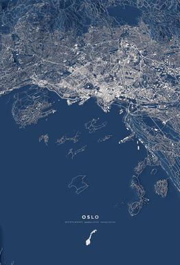 Oslo Color City Map Acrylic Print