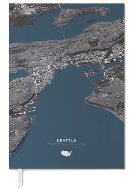 Seattle Color City Map -Terminplaner