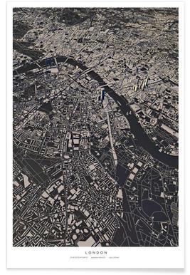 Londen - 3-D stadskaart poster