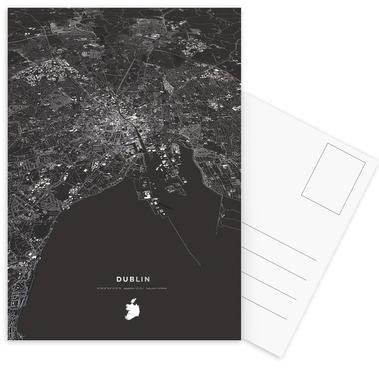 Dublin City Map Postcard Set