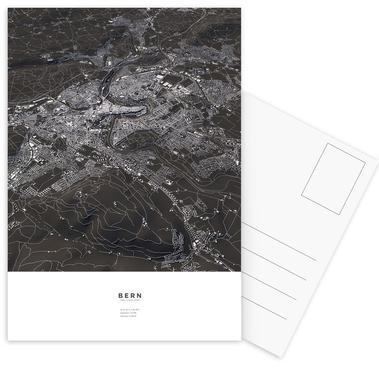 Bern City Map Postcard Set