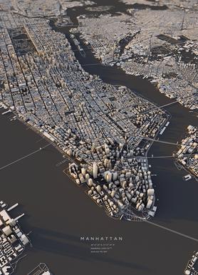 Manhattan III -Leinwandbild
