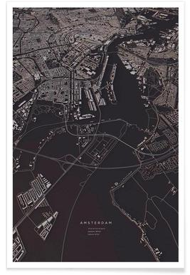 Amsterdam City Map - Poster