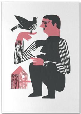 Man With Birds Notebook