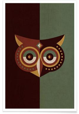 Owl Woods Poster