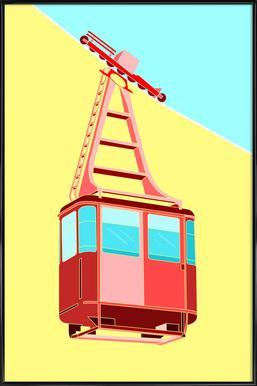 Gondola -Bild mit Kunststoffrahmen