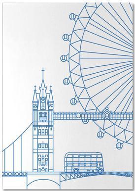 London -Notizblock