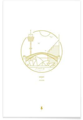 Sydney – minimalistisch -Poster