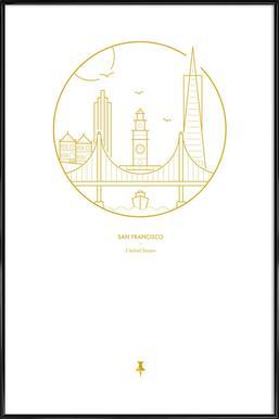 San Francisco - Affiche sous cadre standard
