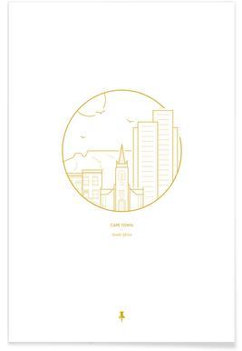 Kaapstad - minimalistisch poster