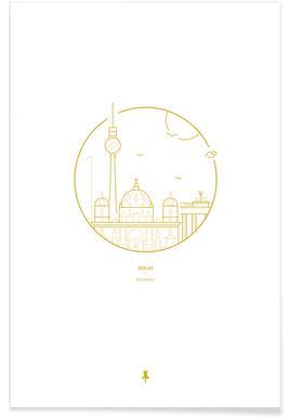 Berlin – minimalistisch -Poster