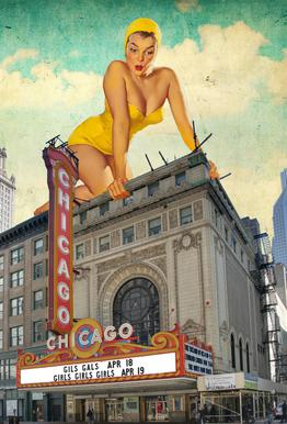 Chicago Pinup Acrylic Print