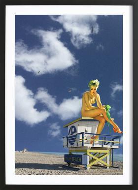 Miami Pinup Framed Print