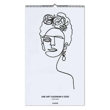 Line Art Calendar II 2020 - Julia Hariri Wall Calendar