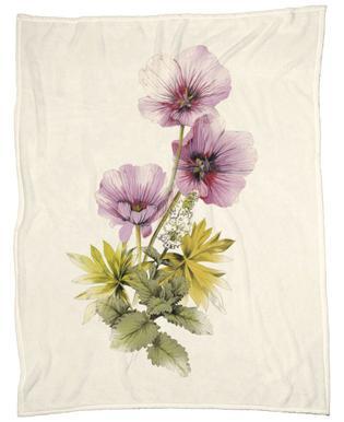 Geranium & Garden mint Fleece Blanket