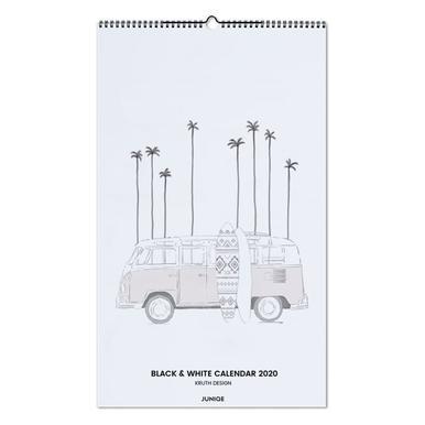 Black & White Calendar 2020 - KRUTH DESIGN wandkalender