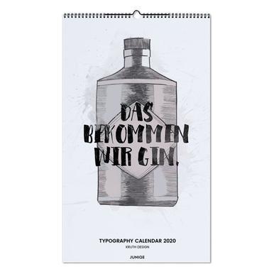 Typography Calendar 2020 - KRUTH DESIGN wandkalender