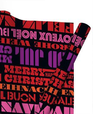 Playful Christmas Greetings / Black Gift Wrap