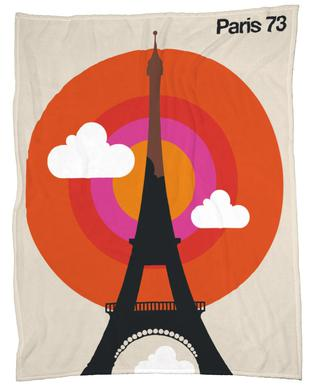 Paris 73 Fleece Blanket