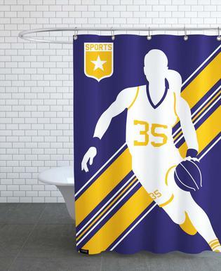 Basketball 3 Shower Curtain