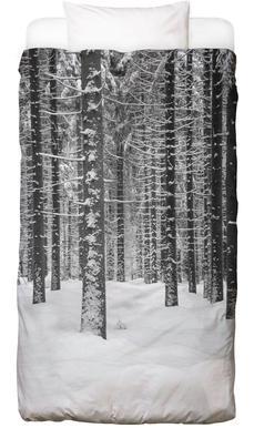 Deep Dark White Forest Bed Linen