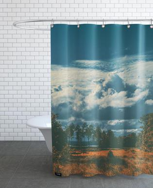 The Flat Land Shower Curtain