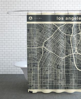 City City Maps Series 3s Series 3 -  Los Angeles Shower Curtain