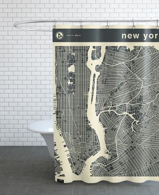 City City Maps Series 3s Series 3 - New York Shower Curtain