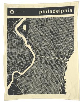 City Maps Series 3 Series 3 - Philadelphia Fleece Blanket