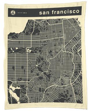 City Maps Series 3 Series 3 - San Francicso Fleece Blanket