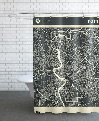 City Maps Series 3 Series 3 - Rome -Duschvorhang