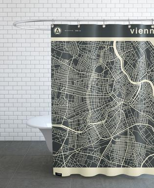 City Maps Series 3 Series 3 - Vienna -Duschvorhang