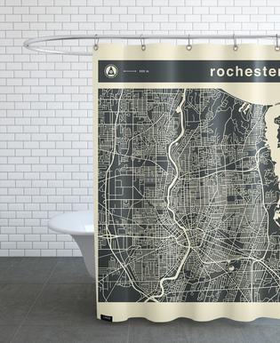 City Maps Series 3 - Rochester -Duschvorhang