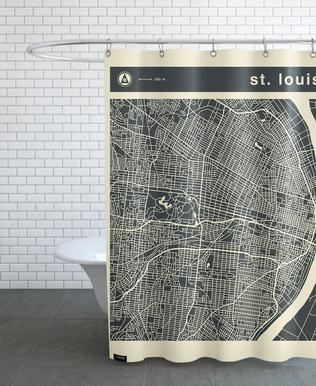 City Maps Series 3 - St. Louis Shower Curtain