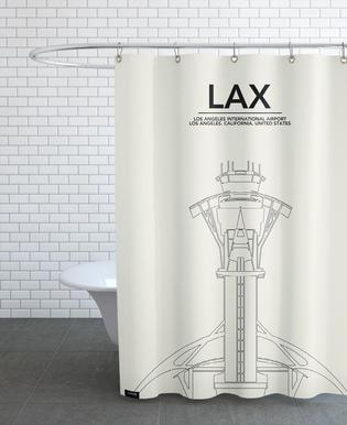LAX Los Angeles Tower Shower Curtain