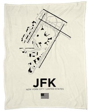 JFK Airport New York plaid