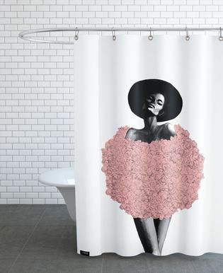 Rose Fur rideau de douche