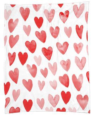 Valentines Hearts Fleece Blanket