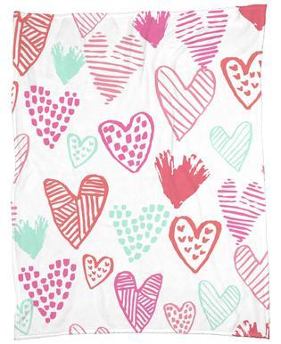 Valentines Pretty Fleece Blanket