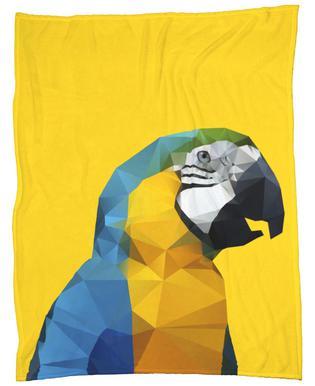 Geo Parrot Fleece Blanket