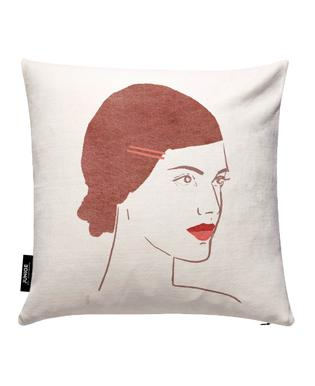 Girl With Hairclip Housse de coussin