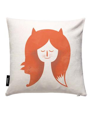 Fox Head Cushion Cover