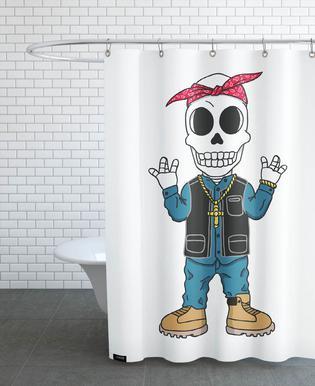 West Coast Skull rideau de douche