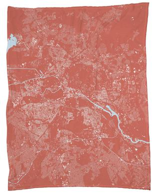 Berlin Pink Fleece Blanket